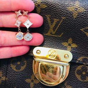 18KT Gold Alhambra Clover Lucky Flower Earrings